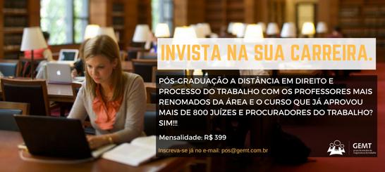 Pós-graduação com os mais renomados professores do Brasil!