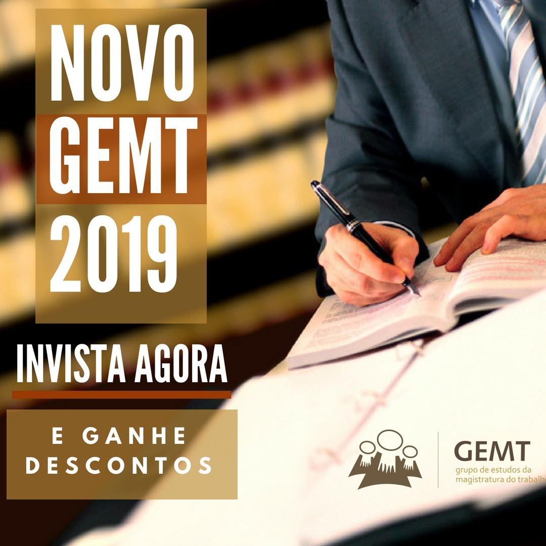 Novo GEMT 2019 - Reserve já com desconto!